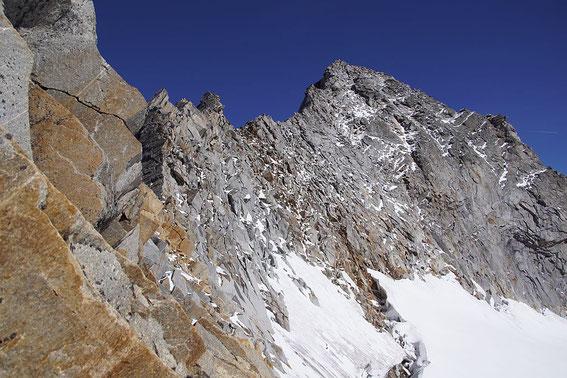 Der Detmolder Grat mit dem Gipfel, 26.9.2018
