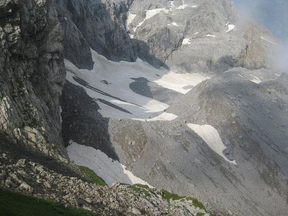 Der Blick von Osten zum Gletscher