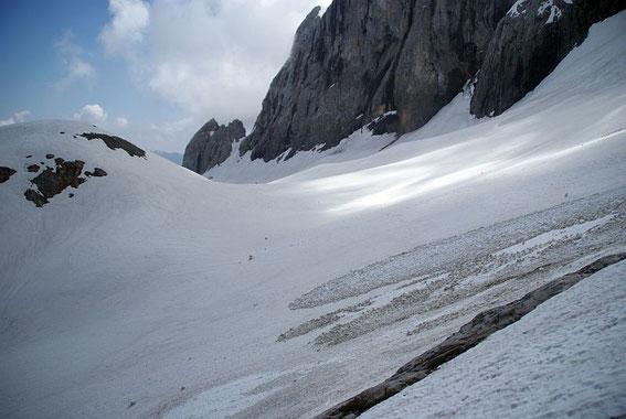 Der Blick über den Eisscheitel nach Osten