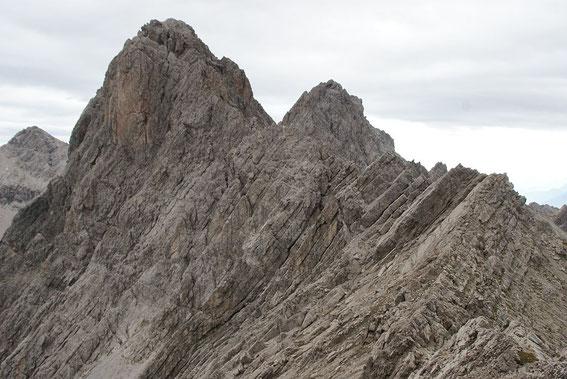 Lange Gratkletterei zum Seekofel (höchster Berg)