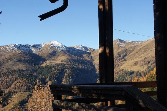 Bei der Jagdhütte mit Blick nach Westen zum Dolzer