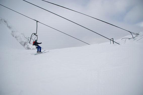 Am Sella Prevala, die außer Betrieb befindliche Talstation des slowenischen Sesselliftes