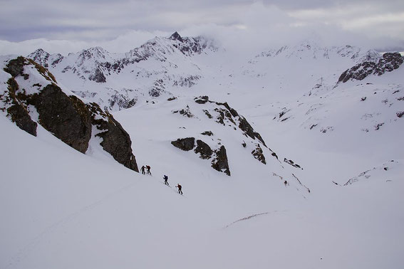 Knapp über dem Brettersee