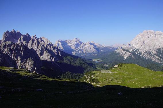 Knapp westlich vom Rif. Auronzo, Blick nach Süden
