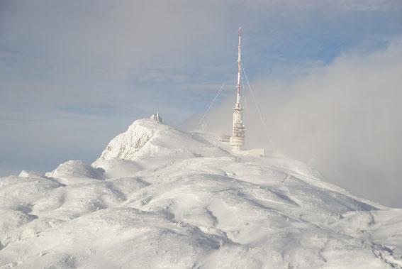Der Gipfel zeigt sich