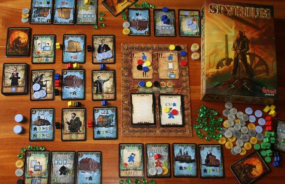 Spyrium von Ystari/Asmodee für 2-5 Spieler, Autor: William Attia