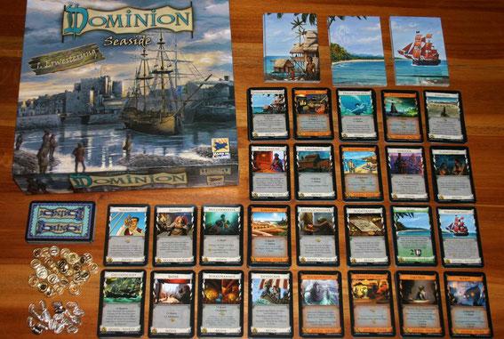 Dominion Seaside von Hans im Glück bzw. Ass für 2-4 Spieler; Autor: Donald X. Vaccarino