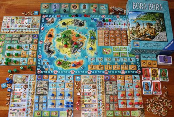 Bora Bora von Ravensburger/Alea für 2-4 Personen; Autor: Stefan Feld