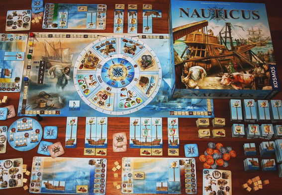 Nauticus von Kosmos für 2-4 Spieler; Autoren: Wolfgang Kramer & Michael Kiesling
