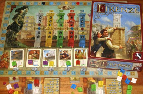 Firenze von Pegasus für 2-4 Spieler ab 12 Jahren; Autor: Andreas Steding