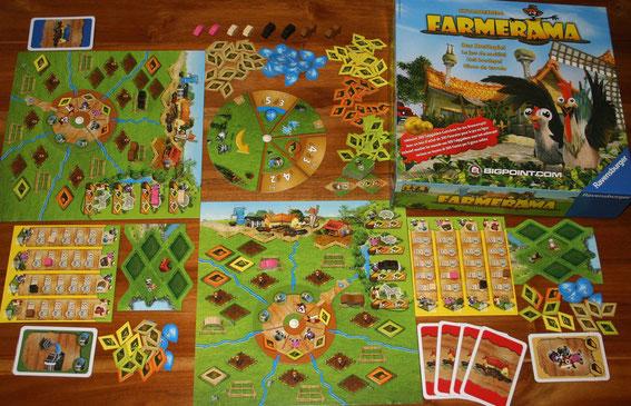 Farmerama von Ravensburger für 1-4 Spieler; Autor: Uwe Rosenberg