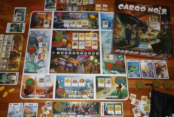 Cargo Noir von Days of Wonder für 2-5 Spieler ab 8 Jahren - 60-90 Minuten; Autor: Serge Laget