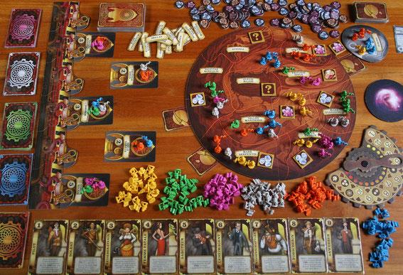 Aufbruch zum Roten Planeten von Heidelbg/Fantasy Flight für 2-6 Spieler ab 14 J; Autor: Faidutti & Cathala