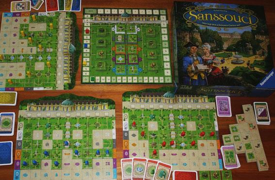 Sanssouci von Ravensburger für 2-4 Spieler ab 8 Jahren; Autor: Michael Kiesling