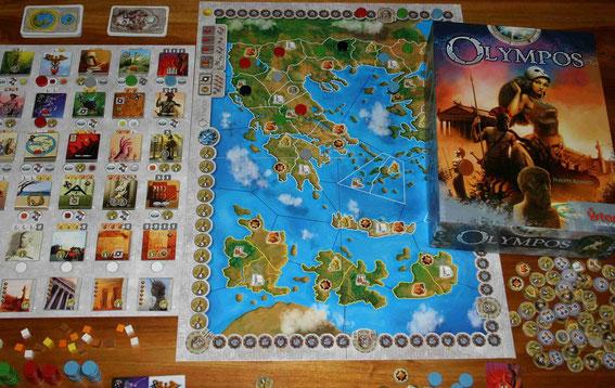 Olympos von Ystari für 2-5 Spieler; Autor: Philippe Keyaerts