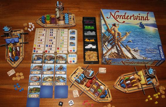 Norderwind von Kosmos für 2-4 Spieler; Autor: Klaus Teuber