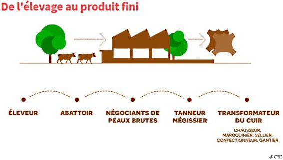 Le processus de production du cuir