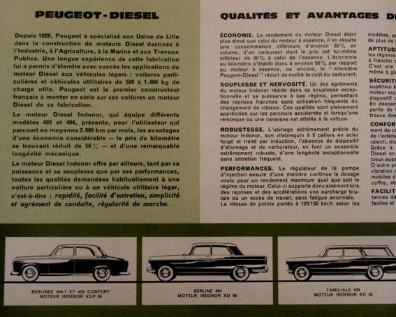 Extrait catalogue Peugeot diesel