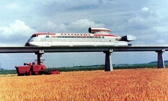 L'ultime aérotrain avec sa turbine de Caravelle