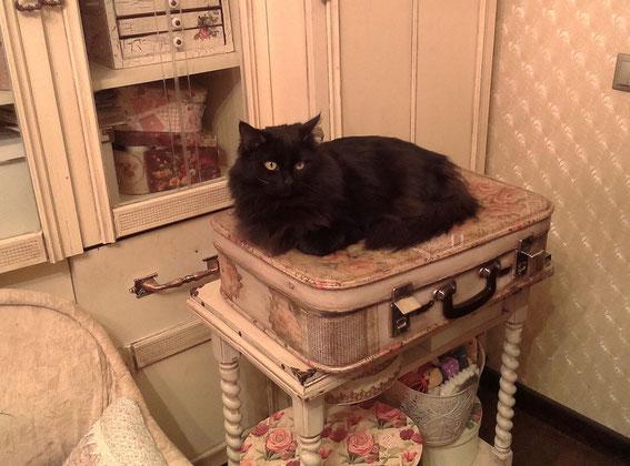 старый чемодан, декупаж