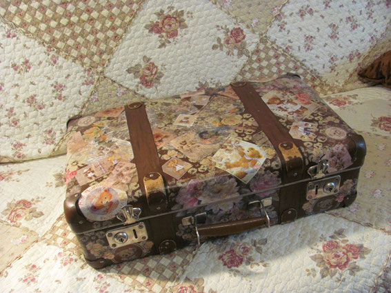 декупаж чемоданы шебби шик
