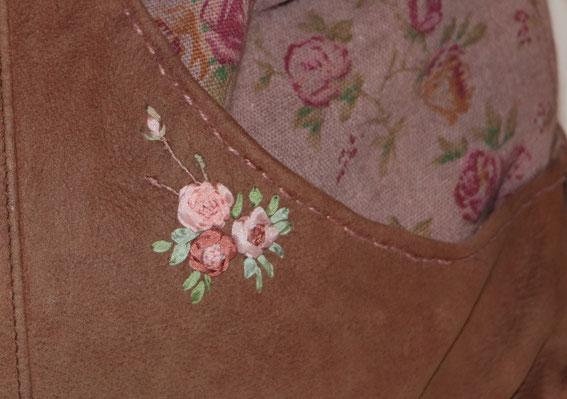 сумка своими руками. сумка ручной работы. вышивка лентами