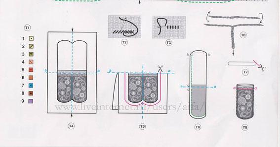 хема вышивки для очечника, вышивка крестиком