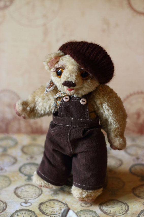 мишка тедди авторская игрушка купить авторскую куклу вязание валяние