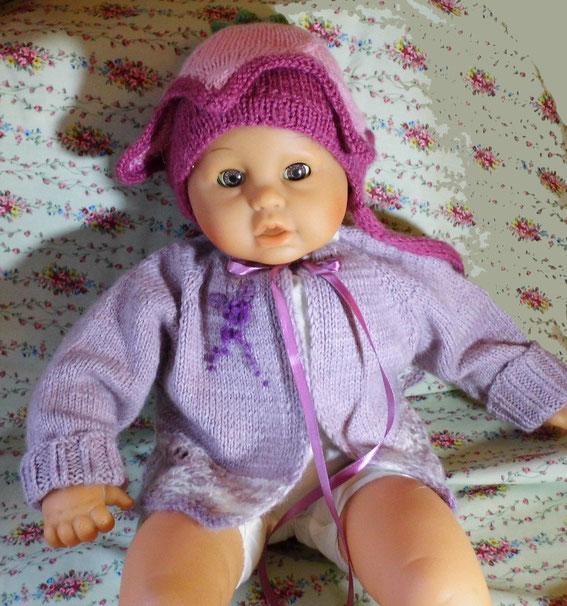 вязаная детская шапочка, вязаная детская кофточка, вышивка, детские вещи купить