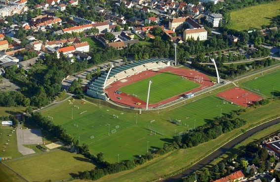 Areal view of Rudolf Tonn Stadion 2