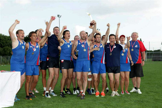 French Men's Open after receiving their Gold Medals and the Mainland Cup trophy