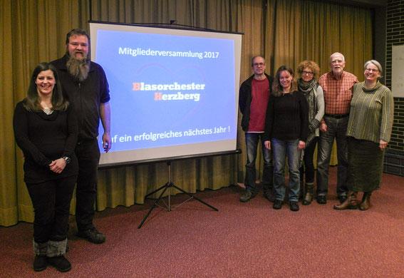 Gruß von unserem Vorstand auf der Mitgliederversammlung 2017