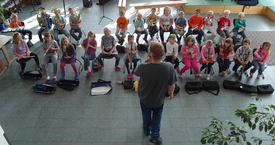 Die neue Bläserklasse in Kooperation mit der Grundschule Hörden
