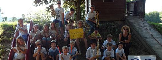 Die  tolle Premiere unsere Kinderorchester-Musicals mit Natascha Haier, Kindergartenfest Mahnte, 27.8.2016