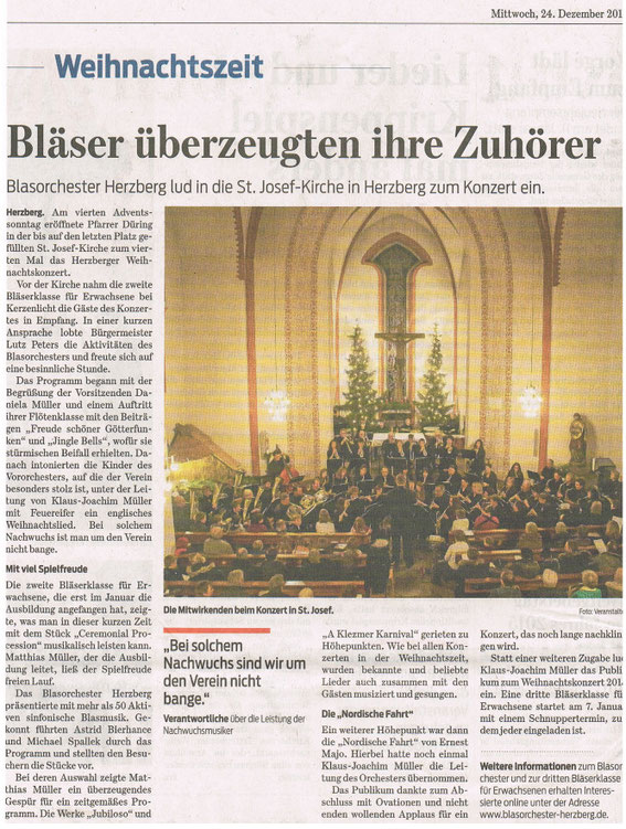 Harzkurier, 24.12.2014