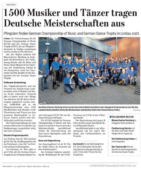 Harzkurier, 30.04.2016
