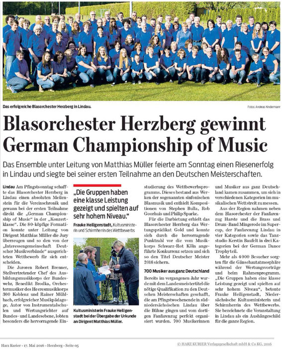 Harzkurier, 17.05.2016