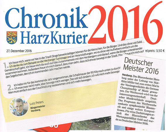 Chronik 2016, Harzkurier