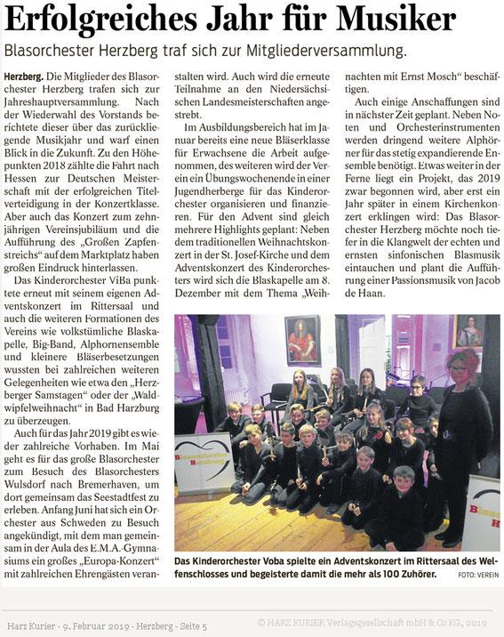 Harzkurier, 9.2.2019