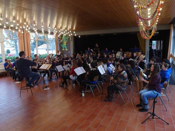 Probennachmittag 08.02.2014 mit Gastdirigent Malte Müller