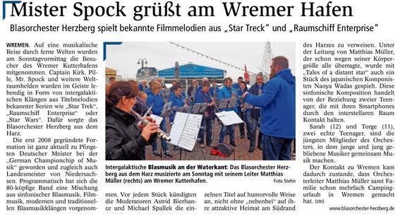 Nordsee-Zeitung 30.05.2016