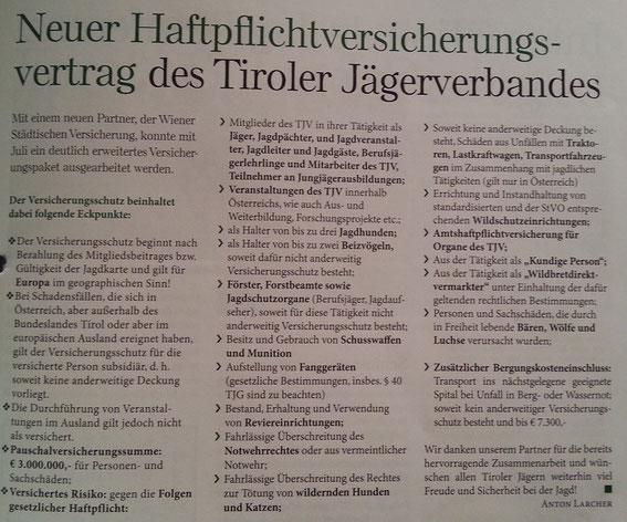 """Quelle: Zeitschrift """"Jagd in Tirol"""" Ausgabe September 2014, Seite 25 (zum Vergrössern bitte anclicken)"""