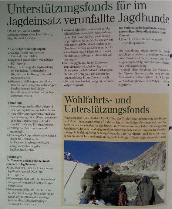 """Quelle: Zeitschrift """"Jagd in Tirol"""" Ausgabe Februar 2015, Seite 24 (zum Vergrössern bitte anclicken)"""