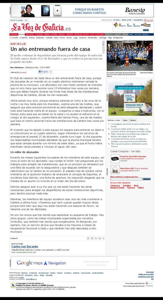 12-11-10 La Voz de Galicia