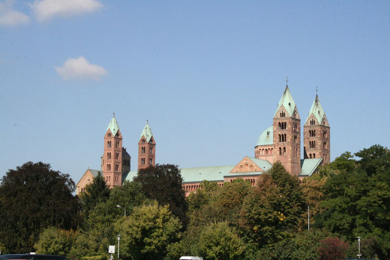 Kaiserdom zu Speyer - Seitenansicht
