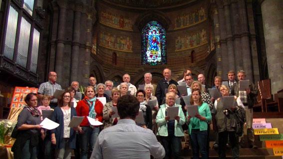 Auftritt im Straßburger Münster (Altarraum)