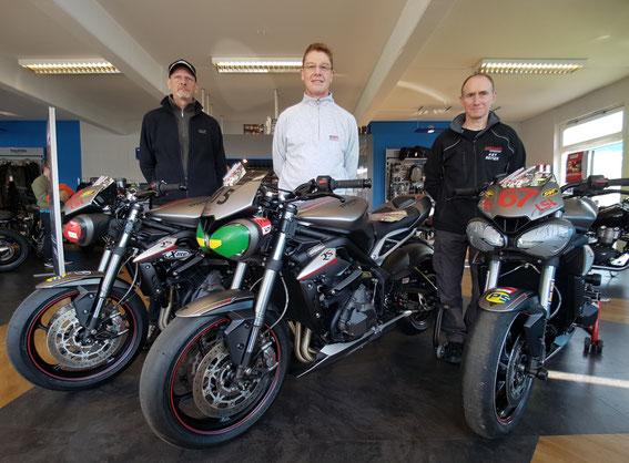 Horst Süsslin, Uwe Kaiser, Reiner Kunzelmann, Street Triple Cup 2017 , Motorrad-Center Dreispitz  -  Motorräder, Roller, Vermietung