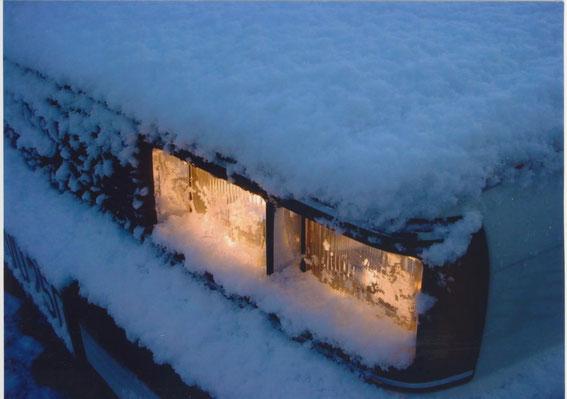 Audi Coupe im Winter
