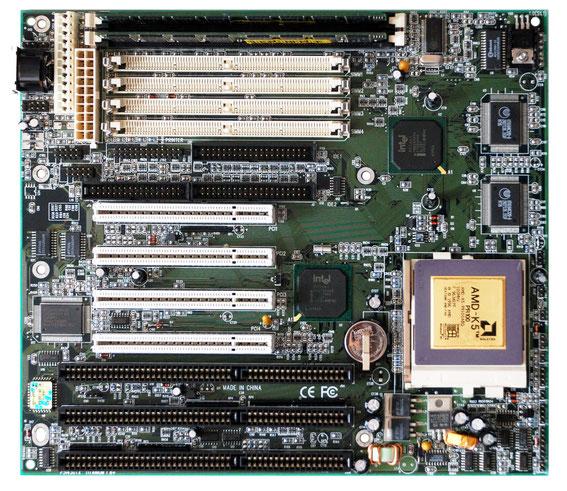 QDI Titanium IB+ with AMD K5-PR100 (SSA/5), one of my favorite Socket 5/7 motherboards!