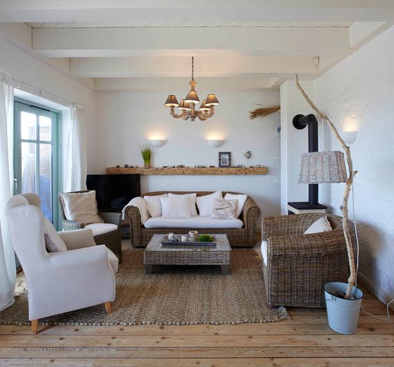 Strandhaus-Fehmarn I, Steuerbord Wohnzimmer im Landhausstil